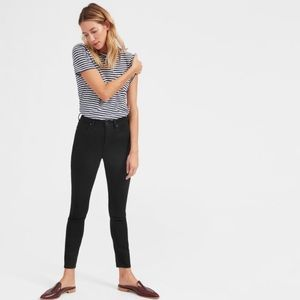 Everlane The High Rise Skinny Ankle Jean in Black